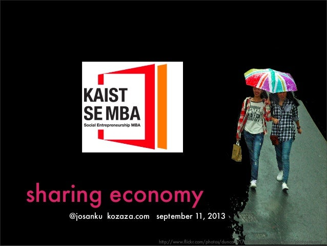 Sharing Economy Presented to KAIST MBA