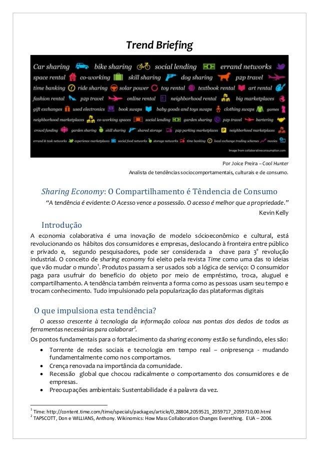 Trend Briefing  Por Joice Preira – Cool Hunter Analista de tendências sociocomportamentais, culturais e de consumo.  Shari...