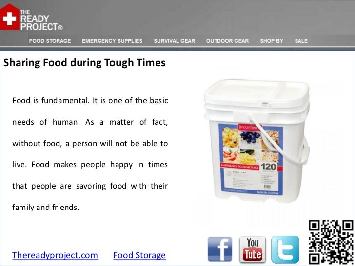 Sharing Food during Tough Times Food is fundamental. It is one of the basic needs of human. As a matter of fact, without f...