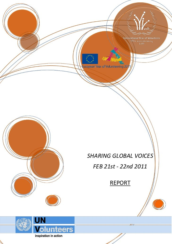 SHARING GLOBAL VOICES FEB 21st - 22nd 2011       REPORT