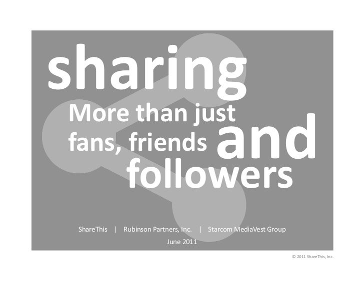 Sharing: More Than Just Fans, Friends and Followers