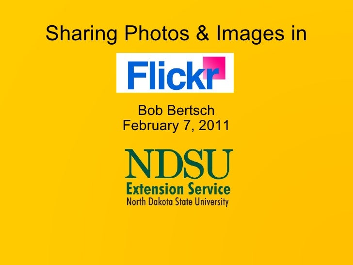 Sharing Photos and Images in Flickr