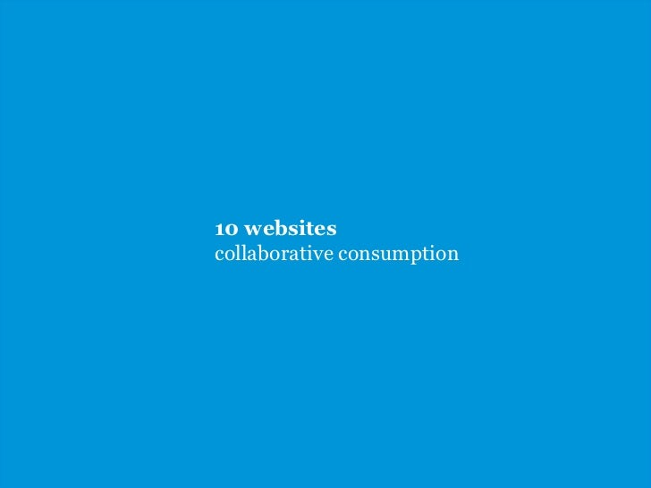 10 websitescollaborative consumption