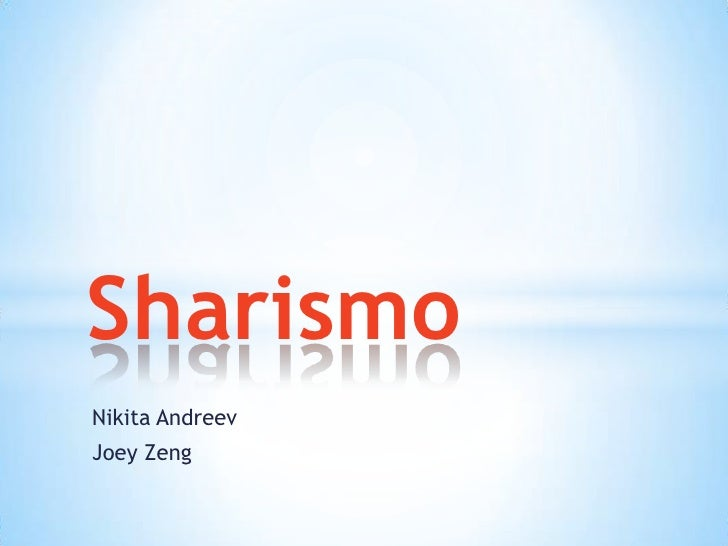 Sharismo presentation
