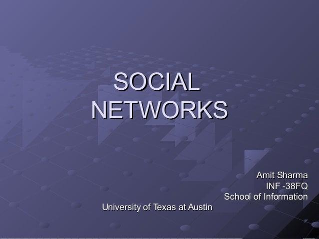 Sharma : social networks