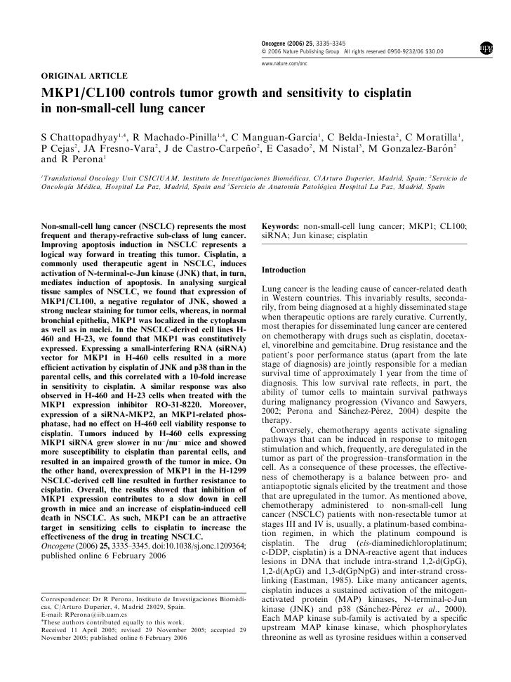 Oncogene (2006) 25, 3335–3345                                                                      & 2006 Nature Publishin...