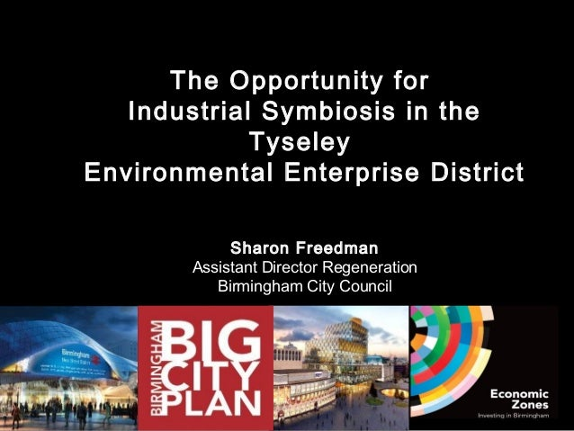 The Opportunity for   Industrial Symbiosis in the             TyseleyEnvironmental Enterprise District             Sharon ...