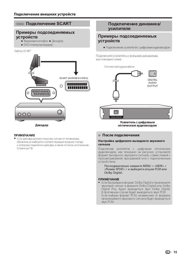 Видеомагнитофон ● Декодер