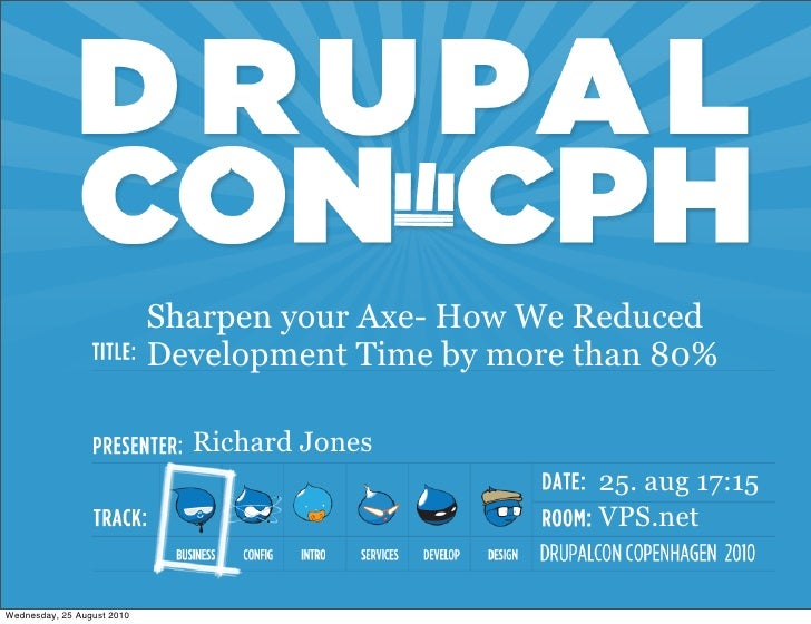 Sharpen your axe drupal concph 2010