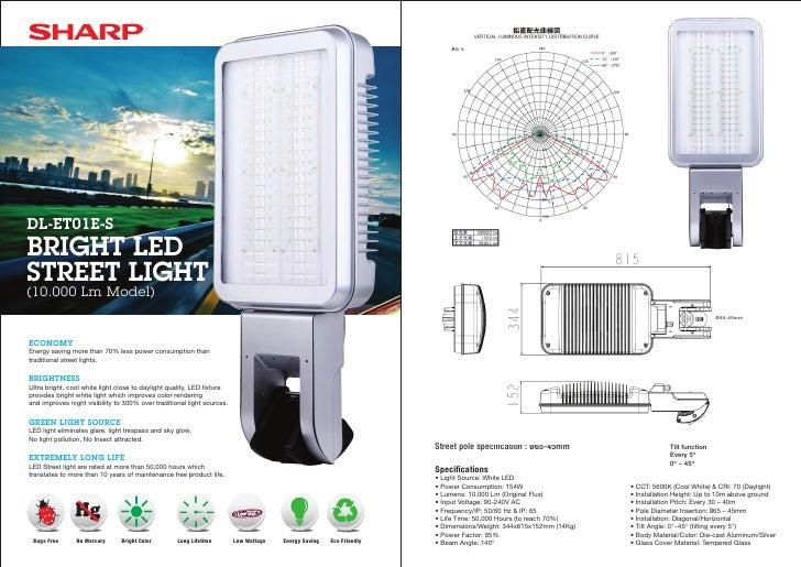 DL-ET01E-S BRIGHT LED STREET LIGHT (10.000 Lm Model)                                                                      ...
