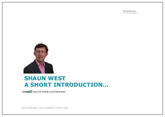 Shaun west