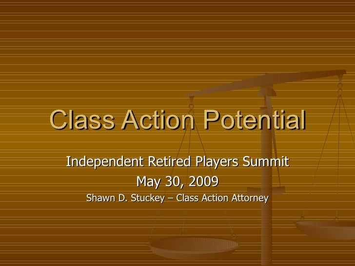 Shawn Stuckey Class Action Potential