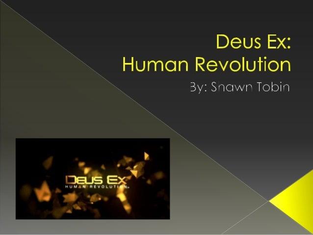Shawn Tobin - Deus Ex Movie presentation
