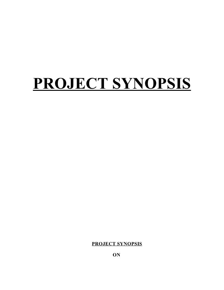 PROJECT SYNOPSIS          PROJECT SYNOPSIS             ON