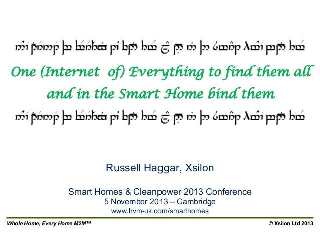 Xsilon at Smart Homes 2013 Cambridge