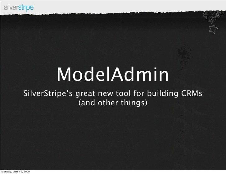 ModelAdmin in SilverStripe 2.3