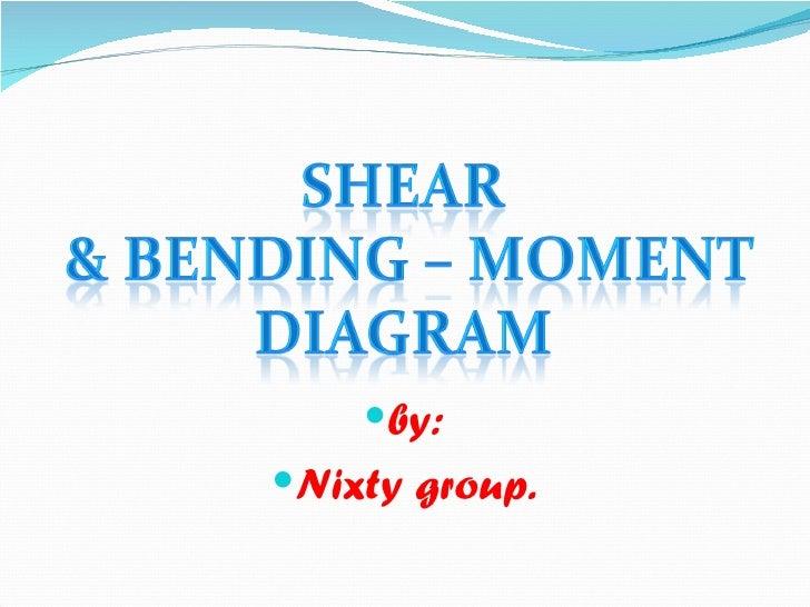 Shear & bending   moment diagram