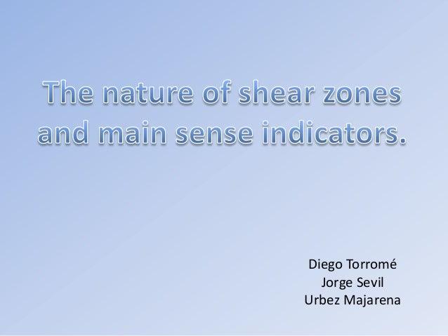 Shear zones.