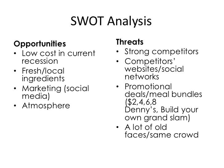 swot analysis of halal restaurant This swot analysis gives a short but concise overview of the strengths, weaknesses, opportunities and threats of the european hotels and restaurants sector strengths.