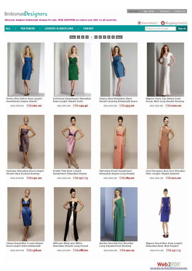 Prev 1 2 3 4 5 6 7 8 9 Next Pretty Blue Halter Knee Length Sweetheart Empire Sheath Ruched Chiffon Evening Bridesmaid Gown...