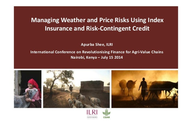 Managing Weather and Price Risks Using Index Insurance and Risk-Contingent Credit