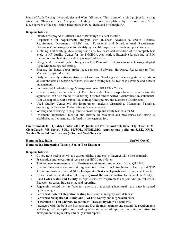 Test Engineer Cover Letter Slidesharenet