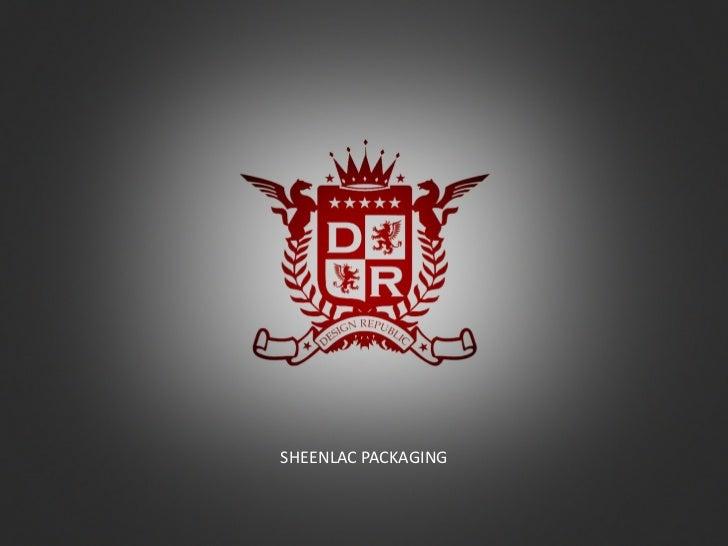 Sheenlac packaging