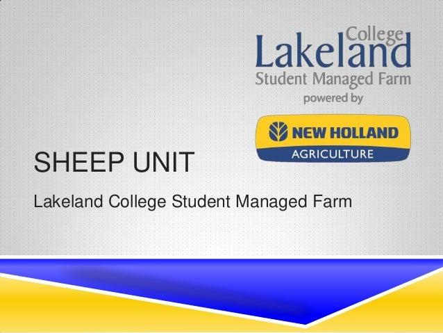 Student Managed Farm Sheep Unit Final Presentation - April 2014