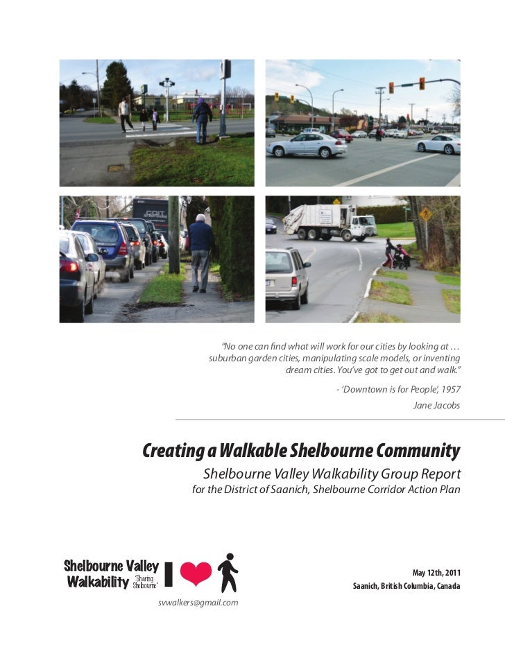 Shelbourne Valley Walkability Report May 2011