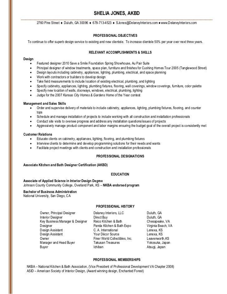 Interior Design Resume Sample,Interior Design Graduate Resume ...