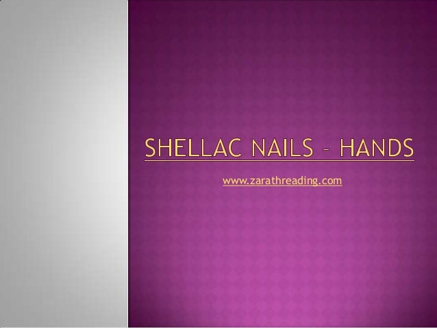 Shellac nails – hands