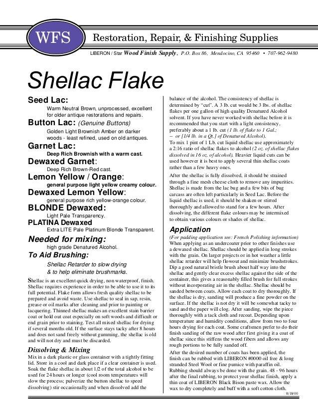 Shellac useinformation