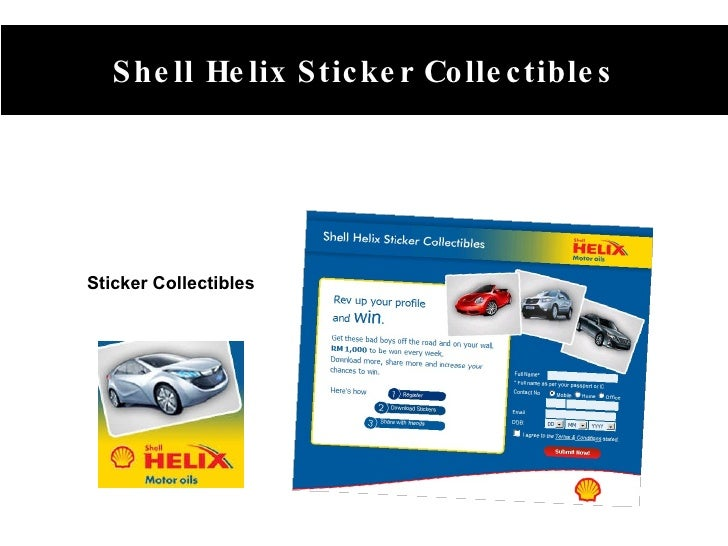 Sticker Collectibles Shell Helix Sticker Collectibles