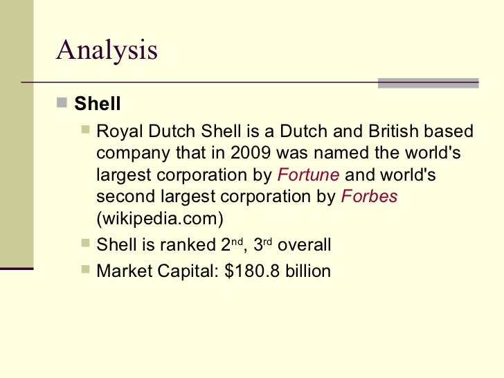 royal dutch and shell case essay