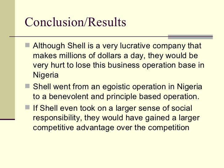 Case study: Shell in Nigeria