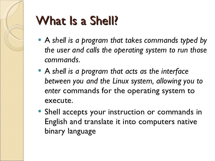 Write A Shell In C