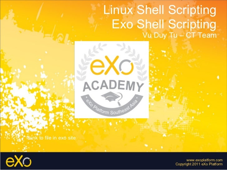 Shell scripting - By Vu Duy Tu from eXo Platform SEA