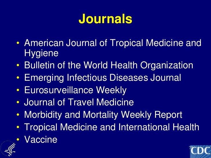 Shelub Cdc Health Care Professional Travel Lecture