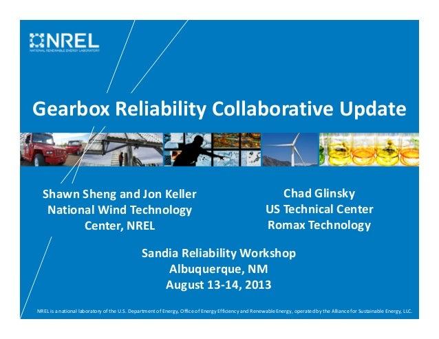 Shawn Sheng Glinsky: 2013 Sandia National Laboratoies Wind Plant Reliability Workshop
