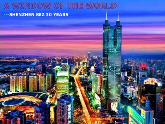 ---SHENZHEN SEZ 30 YEARS