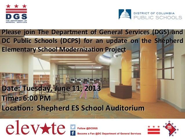 Shepherd Elementary School Community Meeting Flyer