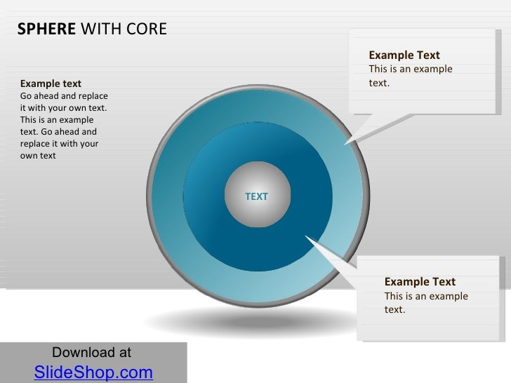 SPHERE  WITH CORE <ul><li>z </li></ul>Example text Go ahead and replace it with your own text. This is an example text. Go...