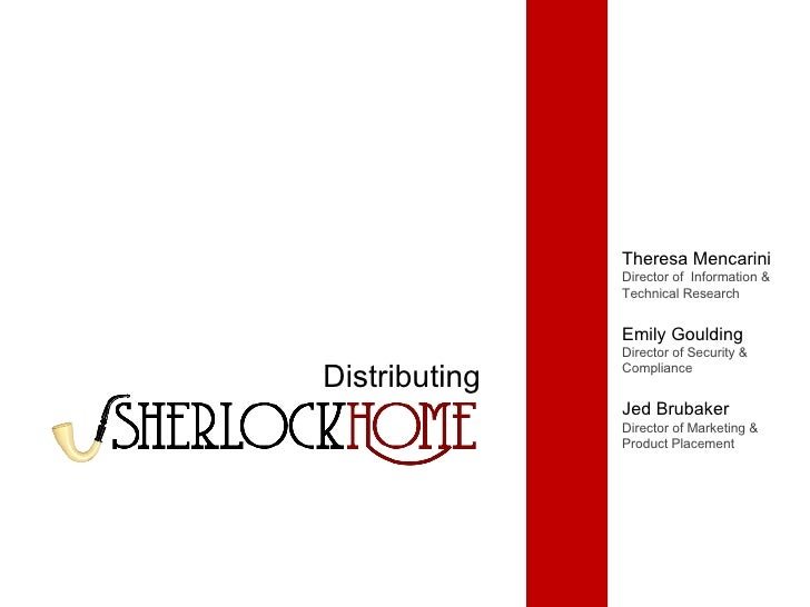 Distributing Theresa Mencarini Director of  Information & Technical Research Emily Goulding Director of Security & Complia...