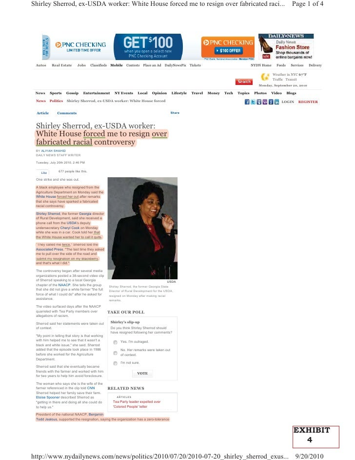 Shirley Sherrod, ex-USDA worker: White House forced me to resign over fabricated raci...                                  ...