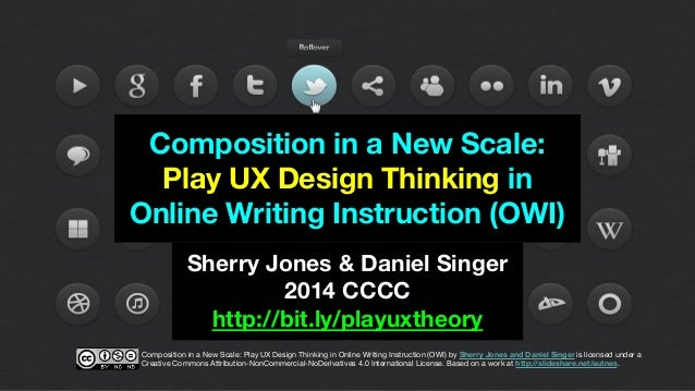 Composition in a New Scale: Play UX Design Thinking in Online Writing Instruction (OWI) by Sherry Jones and Daniel Singer