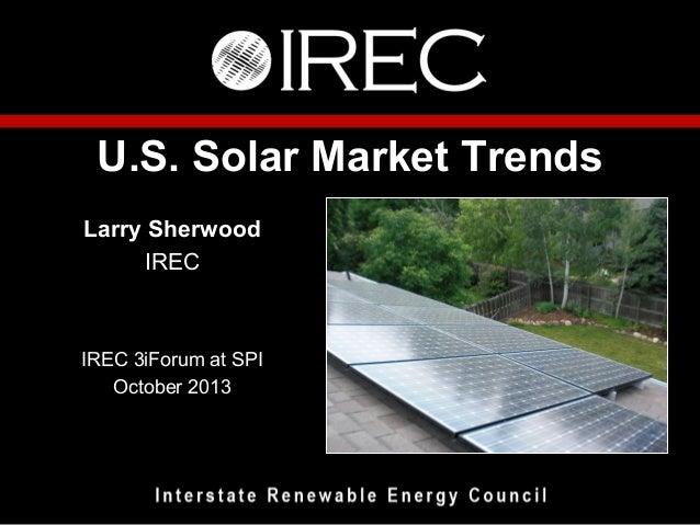 IREC's Annual Solar Market Trends Report