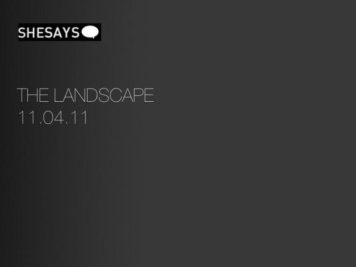 THE LANDSCAPE11.04.11