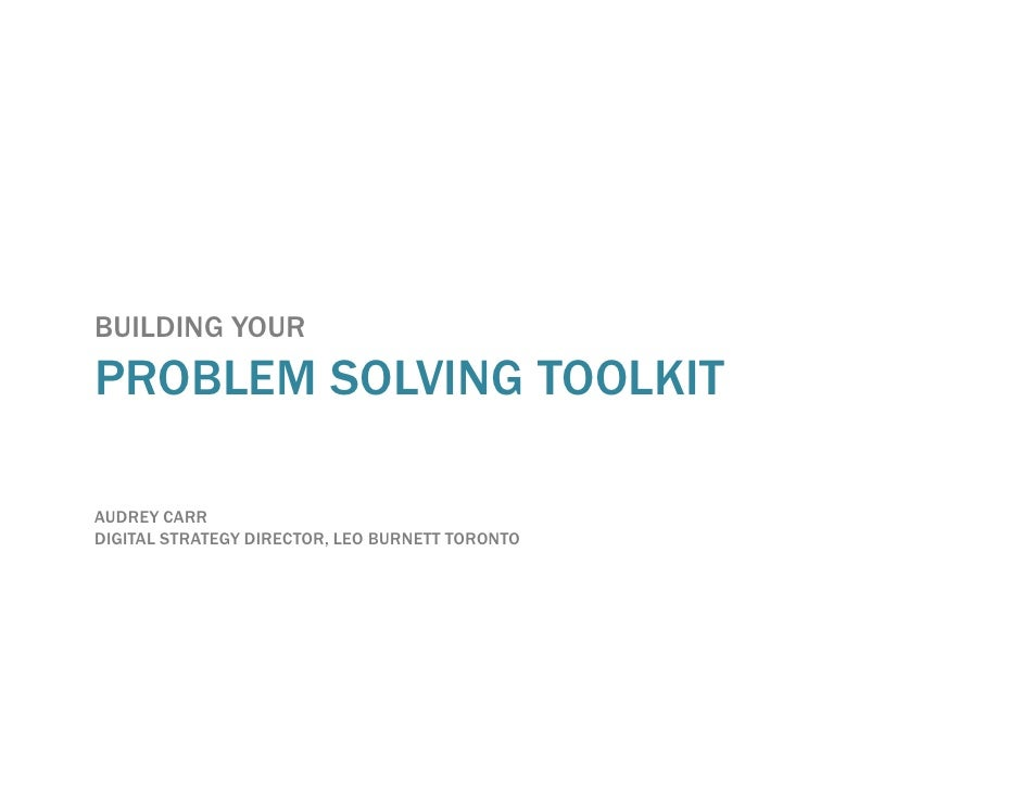 She says problemsolvingtoolkit