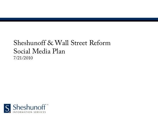 Sheshunoff Social Media Plan