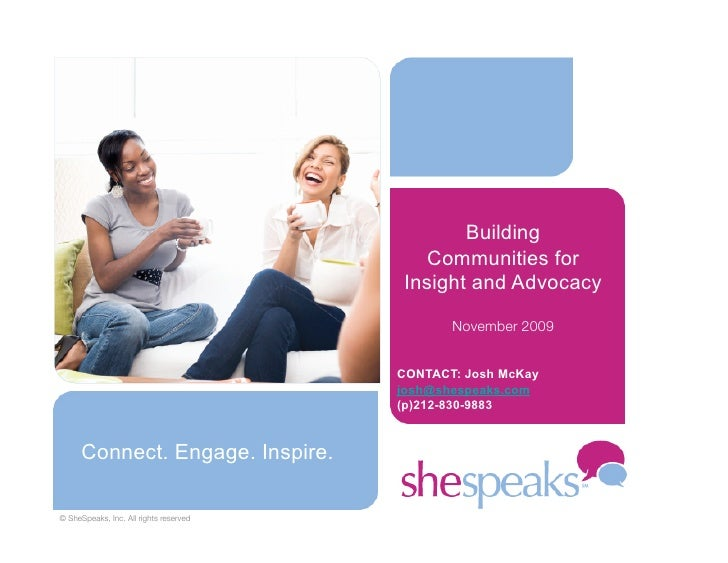 Building                                             Communities for                                          Insight and ...